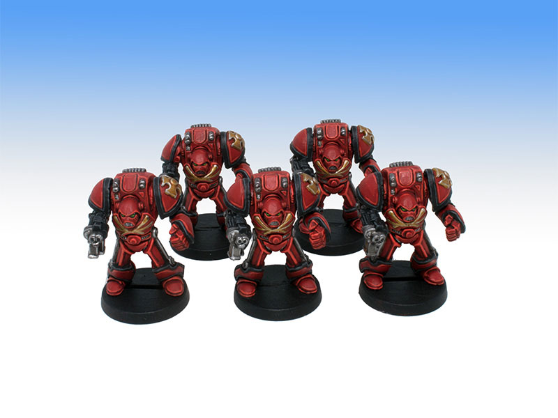 Blood Angels Terminators - Tabletop Level Painting Commission