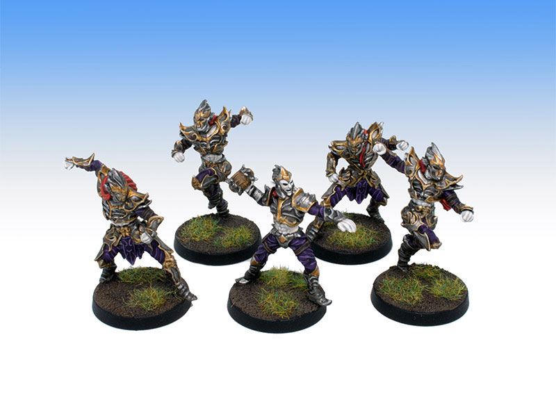 Greebo Dark Elves Blitzers and Thrower - Tabletop Level Painting Commission