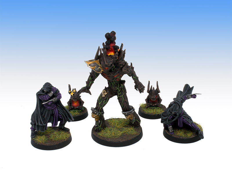 Greebo Dark Elves Assassins and Treeman - Tabletop Level Painting Commission
