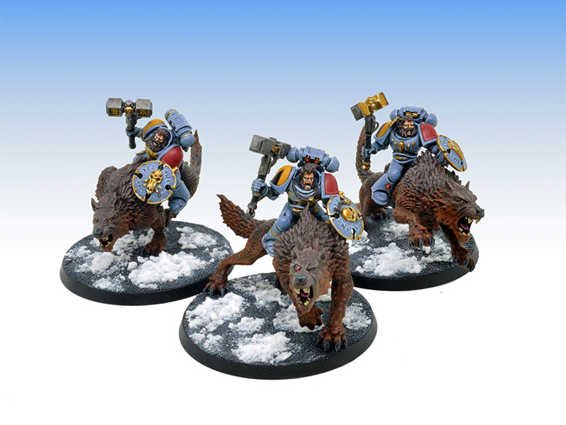 Space Wolves Thunderwolf Cavalry - Tabletop Level Painting Commission