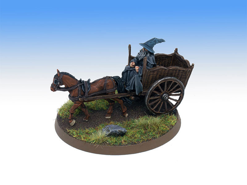Gandalf on Cart  - Character Level Painting Commission