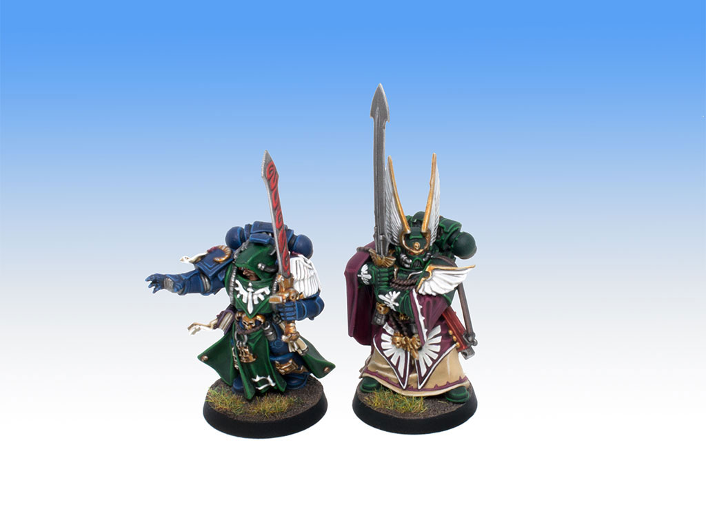 Dark Angels Librarian and Master - Tabletop Level Painting Commission