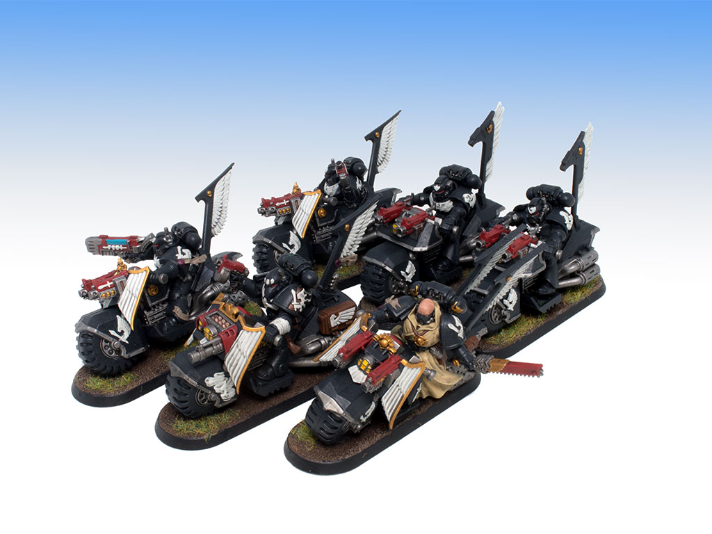 Dark Angels Ravenwing Bikers - Battle Ready Level Painting Commission