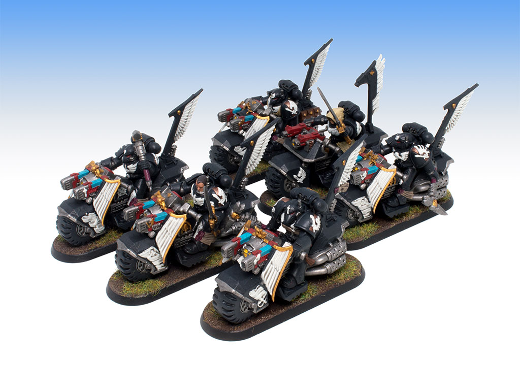 Dark Angels Ravenwing Black Knights - Battle Ready Level Painting Commission